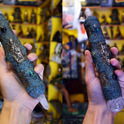 Tibetan healing stick of turquoise chips